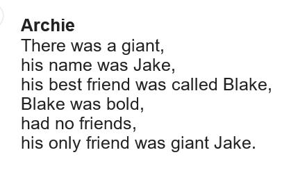 Archie's Giant Poem