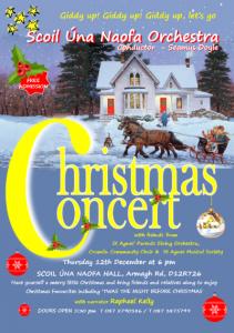 Scoil Úna Naofa Annual Christmas Concert poster