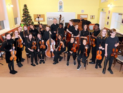 St Agnes' Teenage Chamber Orchestra Christmas performance 2019